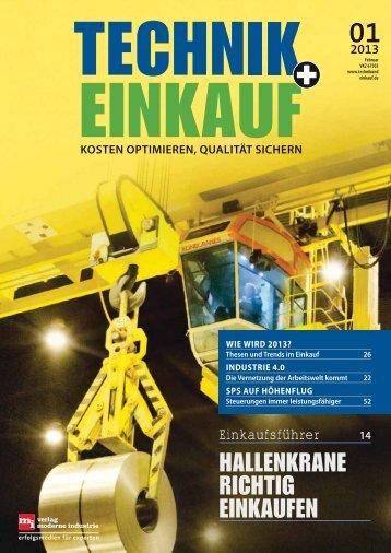 Ausgabe 1 / 2013 - technik + EINKAUF