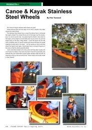 Canoe & Kayak Stainless Steel Wheels - New Zealand Kayak ...