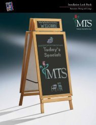 MT S Installation Look Book - MTS Seating