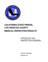 california state prison, los angeles county medical inspection results