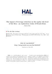 The impact of leverage reduction on the equity risk level of the firm ...