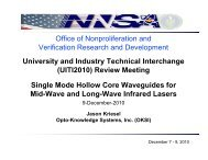 Single Mode Hollow Core Waveguides for Mid-Wave ... - TechExpo