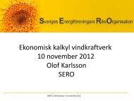 Vindkraftens ekonomi i dag - Sero