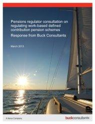 Pensions regulator consultation on regulating work-based defined ...