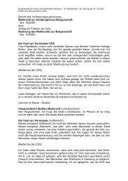 Änderung des Wahlrechts zur Bürgerschaft (pdf) - Politikschmiede