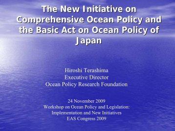 Presentation - T1-1 - Terashima - PEMSEA.org