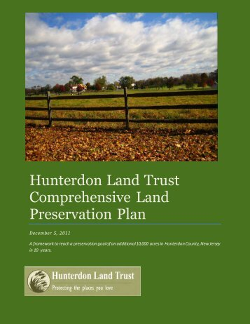 Hunterdon Land Trust Conservation Plan