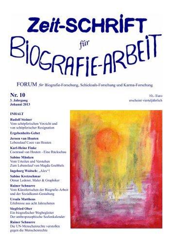 Heft 10 Zeit-Schrift für Biografie-Arbeit - Berufsvereinigung ...
