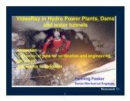 ROV Inspections of Hydro-Power Plants, Dams ... - VideoRay