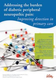 Addressing the burden of diabetic peripheral neuropathic ... - LillyPro
