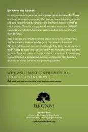 Brochure - City of Elk Grove