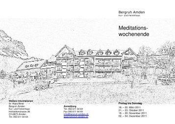 Meditationswochenende 2011 - Kloster Baldegg