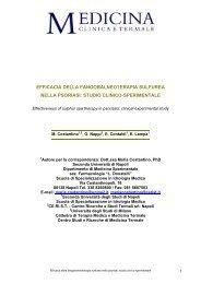 efficacia della fangobalneoterapia sulfurea nella ... - Terme Rosapepe
