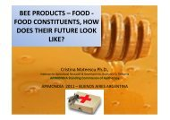 BEE PRODUCTS – FOOD - FOOD CONSTITUENTS ... - Apinews