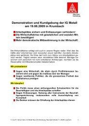 Demo 19.6 - IG Metall