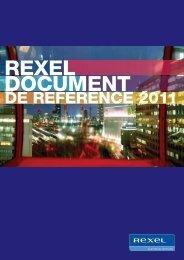 Document de référence 2011 - Rexel