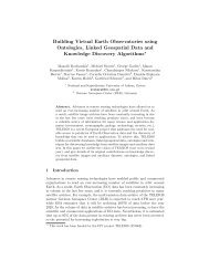 Building Virtual Earth Observatories using Ontologies ... - Strabon