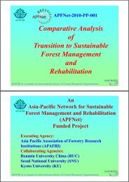 Comparitive Analysis of Transition to Sustainable Forest ...