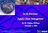 ECR directions Supply Chain Management