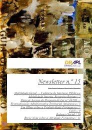 Newsletter n.º 15 - drapl - Governo Regional da Madeira
