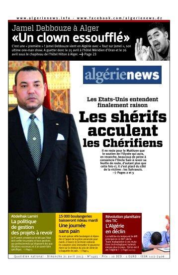 Fr-21-04-2013 - Algérie news quotidien national d'information