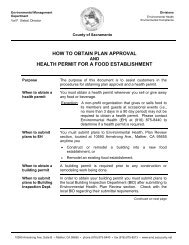 How to Obtain Plan Approval and Health Permit for a Food Facility
