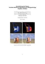 Ausarbeitung des Papers Paralleler Multilevel Algorithmus für ...