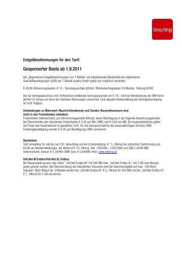 Gesponserter Basta ab 1.9.2011