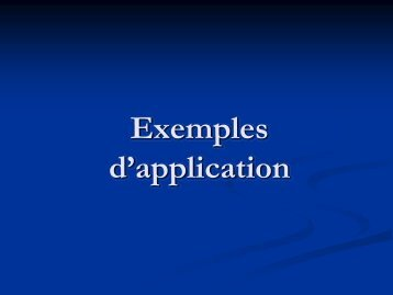 Exemples d'application - sbgimr