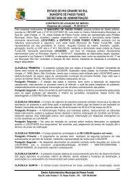 CONTRATO PARTICULAR LOCAÇÃO DE IMÓVEL - Prefeitura ...