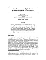 Reinforcement Learning in Games Autonomous Learning Systems ...