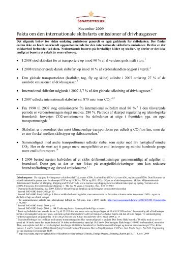 Fakta om den internationale skibsfarts emissioner af drivhusgasser