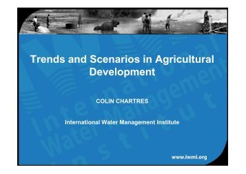 Trends and Scenarios in Agricultural Development - ETH - North ...