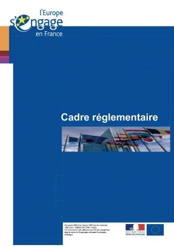 Le paquet réglementaire relatif à la mise en œuvre et à la gestion du ...