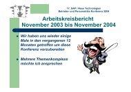 17. SAP / Neue Technologien Betriebs- und Personalräte Konferenz ...