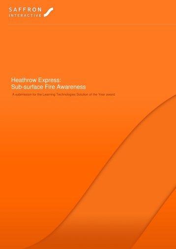 Heathrow Express: Sub-surface Fire Awareness - Saffron Interactive