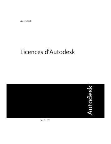 Guide des licences (.pdf) - Autodesk