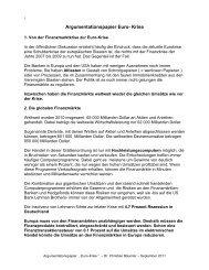 Argumentationspapier Euro- Krise - AZK