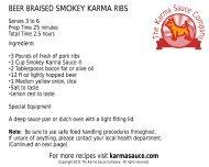 BEER BRAISED SMOKEY KARMA RIBS - Karma Sauce Company