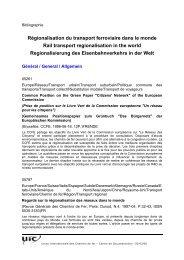 Régionalisation du transport ferroviaire dans le monde Rail ... - UIC