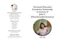 Julie C. Grusenmeyer Memorial Scholarship - Tecumseh Local ...