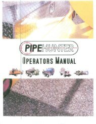 Owners Manual - PipeHunter Equipment