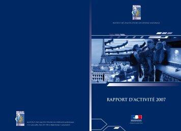 RAPPORT D'ACTIVITÉ 2007 - IHEDN
