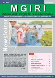 not curve file - Mahatma Gandhi Institute for Rural Industrialization