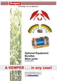 A KEMPER . . . in any case! - Kemper GmbH & Co. KG
