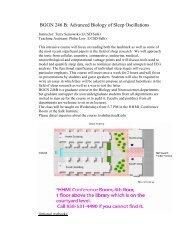 BGGN 246 B: Advanced Biology of Sleep Oscillations
