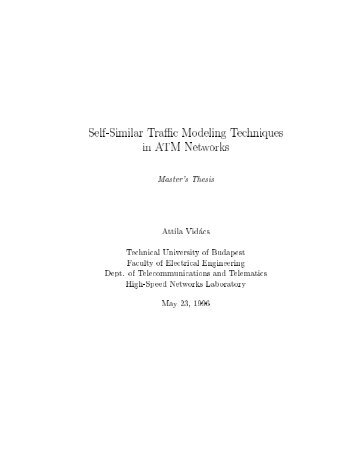 Self-Similar Traffic Modeling Techniques in ATM Networks