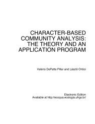 character-based community analysis: the theory and an ... - Ufrgs