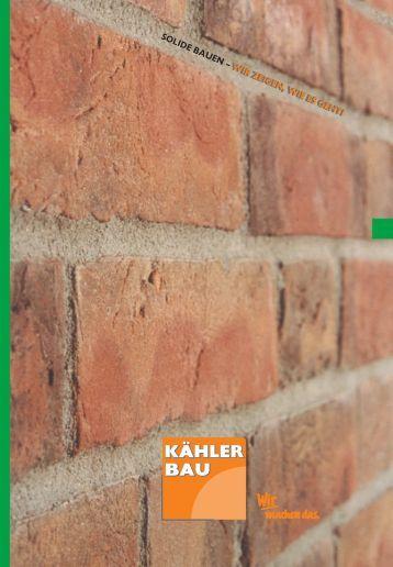 Laden Sie sich hier unsere aktuelle Image-Broschüre - Kähler Bau