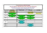 Corso di Laurea in Biotecnologie Anno Accademico 2010-2011, III ...